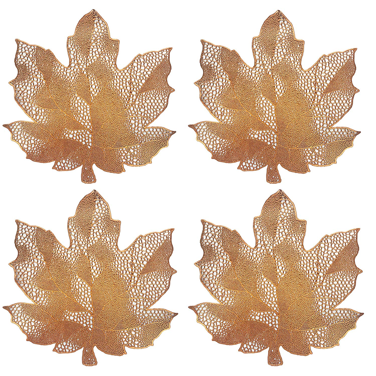 Maple Leaf Pressed Vinyl Placemat Set Of 4 Nirvana Essentials